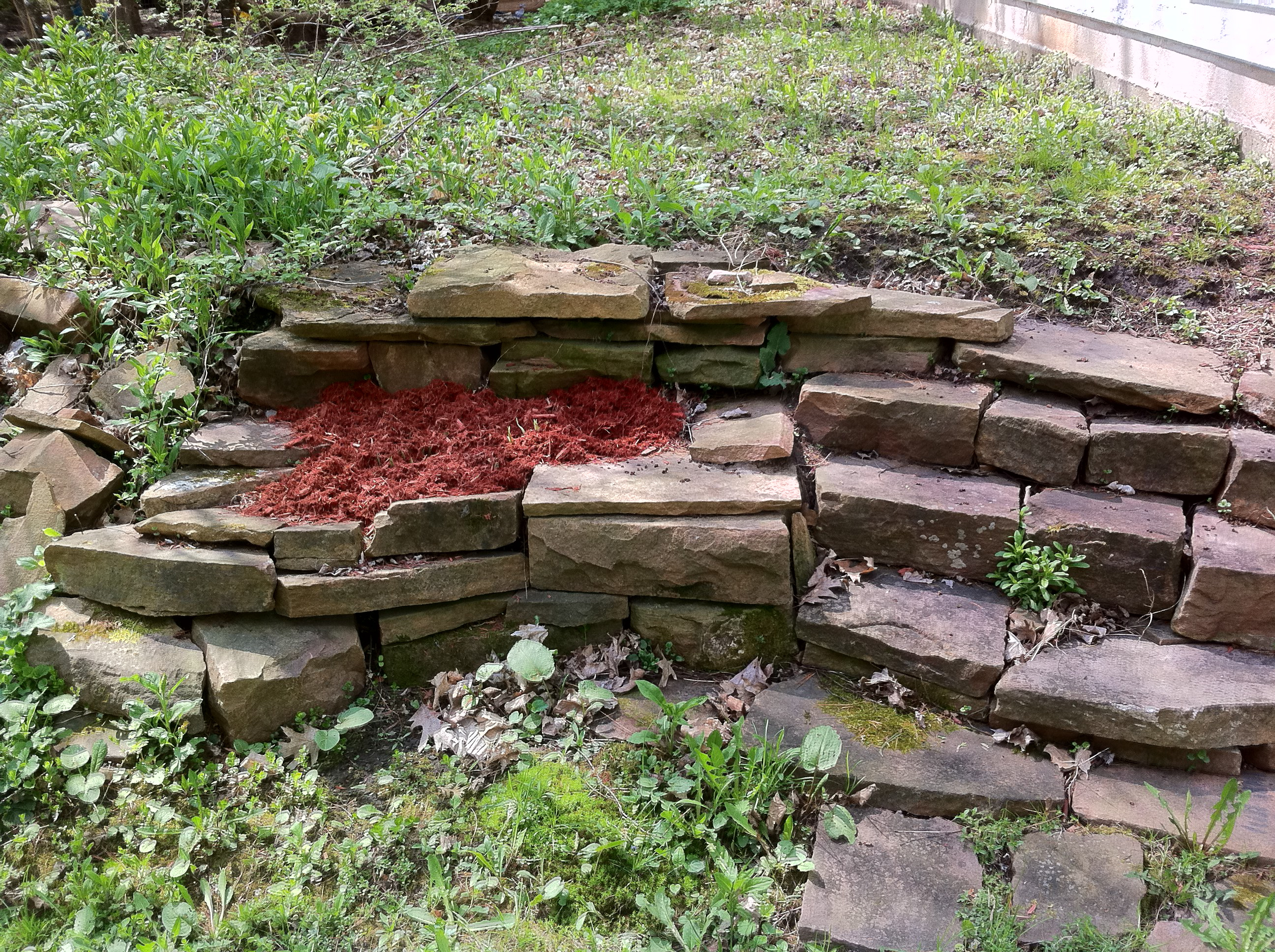 Hasta garden/stone wall. » Fixing Adam's House