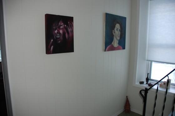 Re-hung artwork.